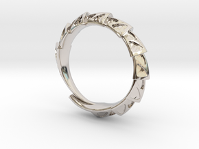 Carapace Ring in Rhodium Plated Brass