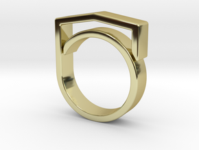 Adjustable ring for men. Model 4. in 18k Gold