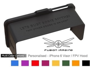 Personalised - iPhone 6/6s Visor / FPV Hood in Black Strong & Flexible