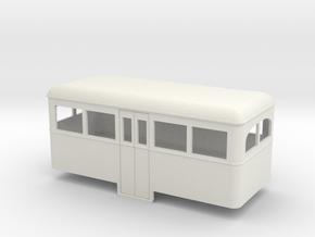 009 Cheap and easy railbus center car  in White Natural Versatile Plastic