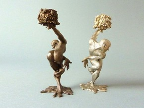 """candleholder """"shY"""" in Polished Bronzed Silver Steel"""