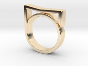 Adjustable ring for men. Model 7. in 14K Yellow Gold