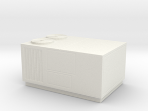 O Scale Rooftop HVAC Unit in White Natural Versatile Plastic