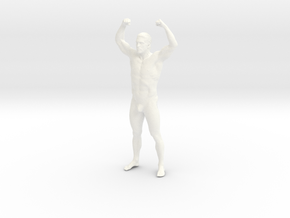 Bodybuilding man in 8cm Passed in White Processed Versatile Plastic