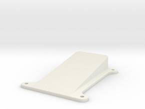 QAV250 Mobius Mount (angled 10 degrees) in White Natural Versatile Plastic