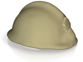 adrian helmet WW2 French army FFI in White Natural Versatile Plastic