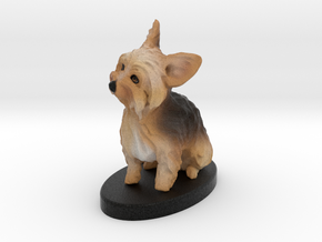 Custom Dog Figurine - Callie in Full Color Sandstone