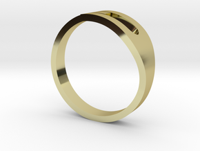 H Ring in 18k Gold Plated Brass