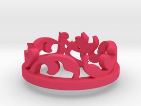 Sara Ring -steel Ring Size 8 in Pink Processed Versatile Plastic