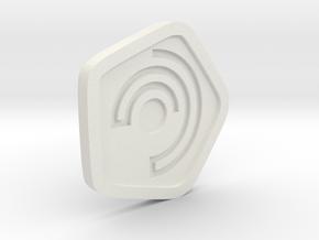 New Harmony Earrings | Flat Borders in White Natural Versatile Plastic