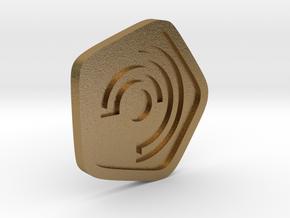New Harmony Earrings   Flat Borders in Polished Gold Steel