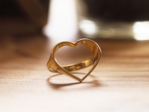 HEART 5 in 18k Gold Plated Brass