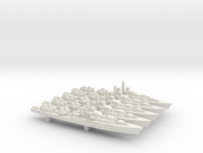 HMS Barfleur (Battle class) 1:1800 x5 in White Natural Versatile Plastic