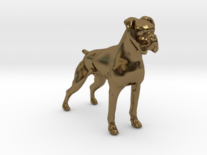 Brindle Boxer in Polished Bronze