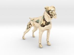 Brindle Boxer in 14K Yellow Gold