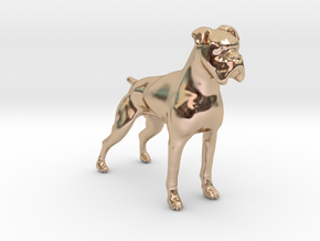 Brindle Boxer in 14k Rose Gold Plated Brass