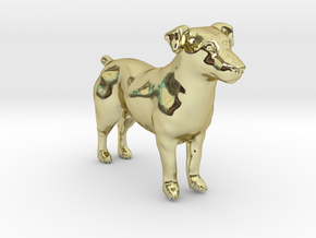 Standing Jack Russell Terrier in 18k Gold