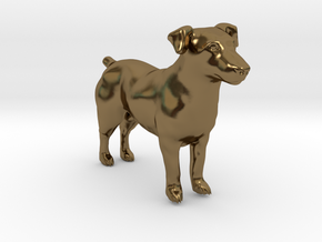 Standing Jack Russell Terrier in Polished Bronze