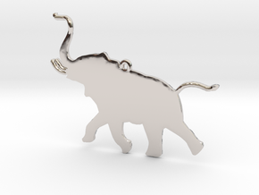 Trumpeting Elephant in Platinum