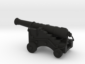 Old Ship Cannon in Black Natural Versatile Plastic