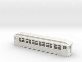 CTA/CRT Wood Rapid Transit Car 1754 in White Natural Versatile Plastic
