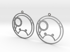 Shanna - Earrings - Series 1 in Fine Detail Polished Silver