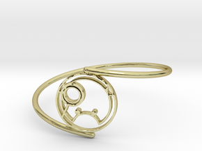 Shanna - Bracelet Thin Spiral in 18k Gold Plated Brass