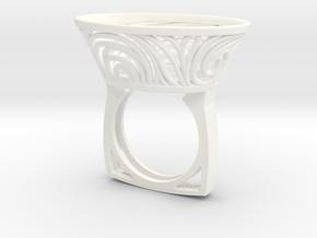 Constantina Contemporary - nest ring  in White Processed Versatile Plastic