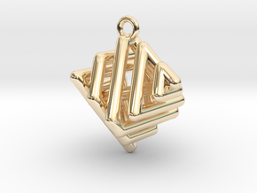 Ring-in-a-Cube in 14K Yellow Gold