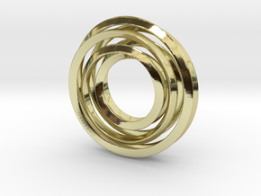 Eternity Twisting in 18k Gold Plated Brass
