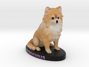 Custom Dog Figurine - Ferocious in Full Color Sandstone