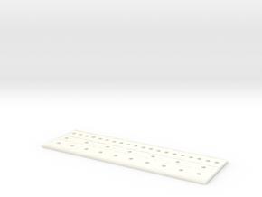 Board Flat in White Processed Versatile Plastic