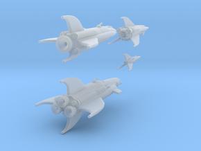 Martian War Rocket Fleet in Smooth Fine Detail Plastic