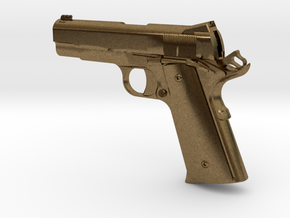 1:12 scale 1911 Pro Carry pistol in Natural Bronze