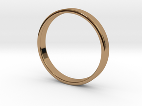 Simple Band Ring Size 6US/16.5mm EU in Polished Brass