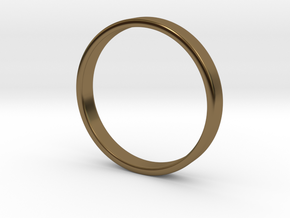 Simple Band Ring Size 6US/16.5mm EU in Polished Bronze