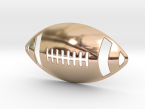 3D Football Pendant in 14k Rose Gold Plated Brass