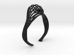 Liquid Tension* Bangle ( XS ) in Black Natural Versatile Plastic