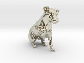 Begging Jack Russell Terrier in 14k White Gold