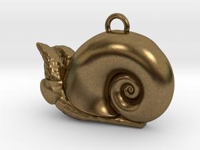 New Zealand Powliphanta  charm in Natural Bronze