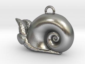 New Zealand Powliphanta  charm in Natural Silver
