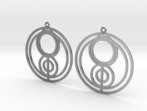 Jenna - Earrings - Series 1 in Fine Detail Polished Silver