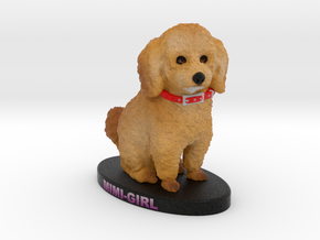 Custom Dog Figurine - Mimi in Full Color Sandstone