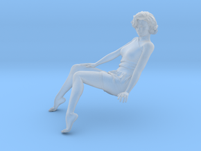 Lady sitting-013 scale 1/20 Passed in Smooth Fine Detail Plastic: 1:20