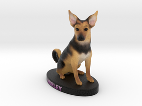 Custom Dog Figurine - Hurley in Full Color Sandstone