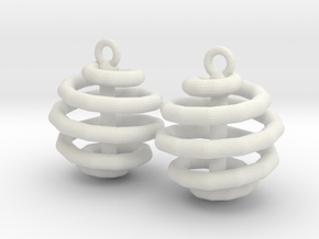 Ring-in-a-Ball-02-EarRing in White Natural Versatile Plastic