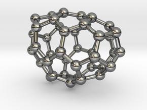 0186 Fullerene C42-3 c1 in Fine Detail Polished Silver