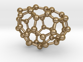 0186 Fullerene C42-3 c1 in Polished Gold Steel