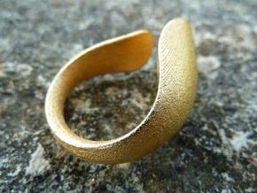 Tactile Bold Flame - Size 5 in Matte Gold Steel