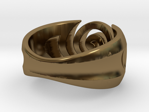 Spiral ring - Size 6 in Polished Bronze